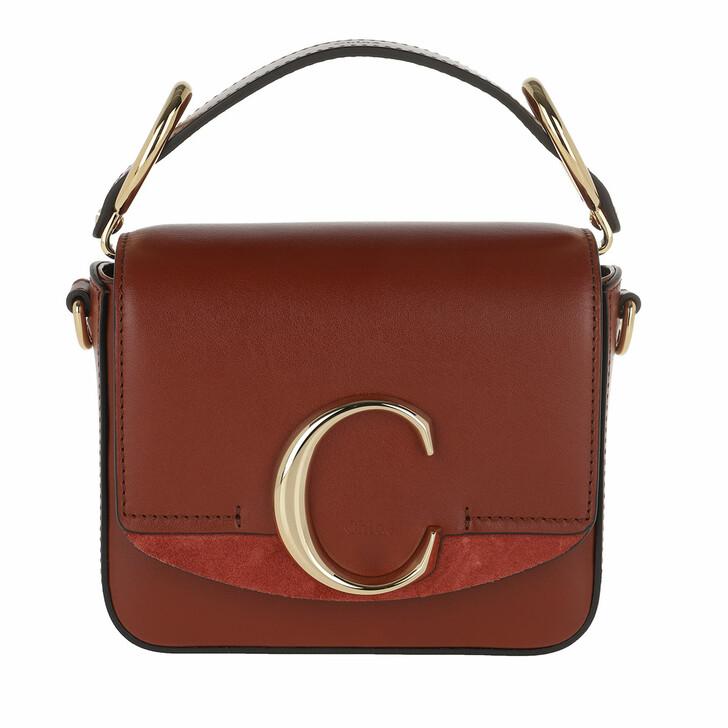 Handtasche, Chloé, C Bag Mini Leather Sepia Brown