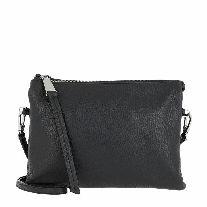Handtasche, Abro, Crossbody Bag Threefold Black Nickel