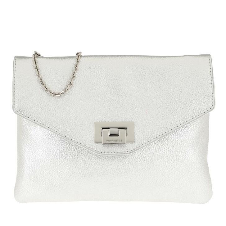 Handtasche, Coccinelle, Mini Bag Silver