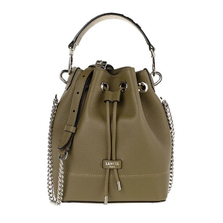 Handtasche, Lancel, Ninon Grained Leather Bucket Bag Small Kaki