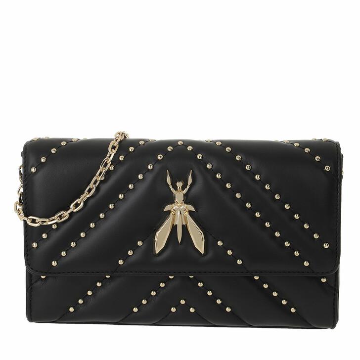 Handtasche, Patrizia Pepe, Small Gold Chain Crossbody Bag Nero