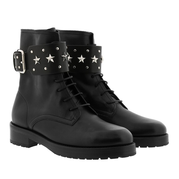 shoes, Red Valentino, Combat Boot Black