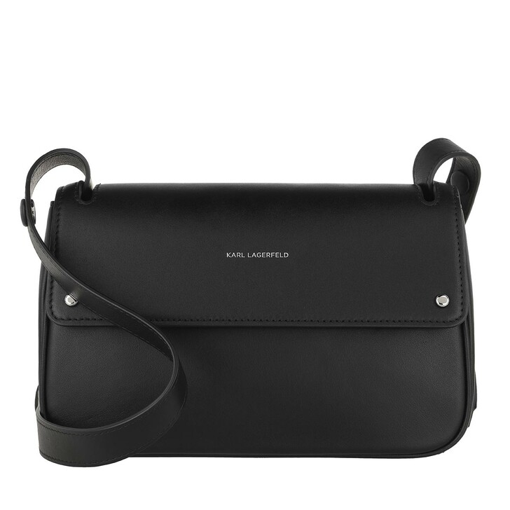 Handtasche, Karl Lagerfeld, K/Ikon Shoulderbag  Black