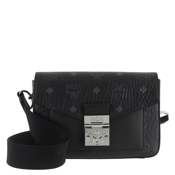 Handtasche, MCM, Small Millie Visetos Crossbody Bag Black