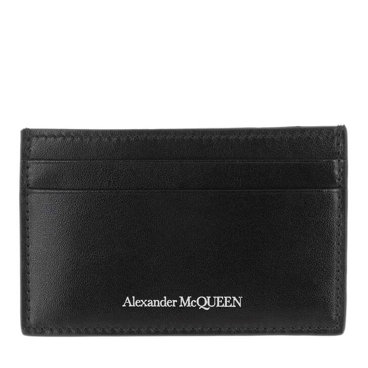 wallets, Alexander McQueen, Card Holder Leather Black