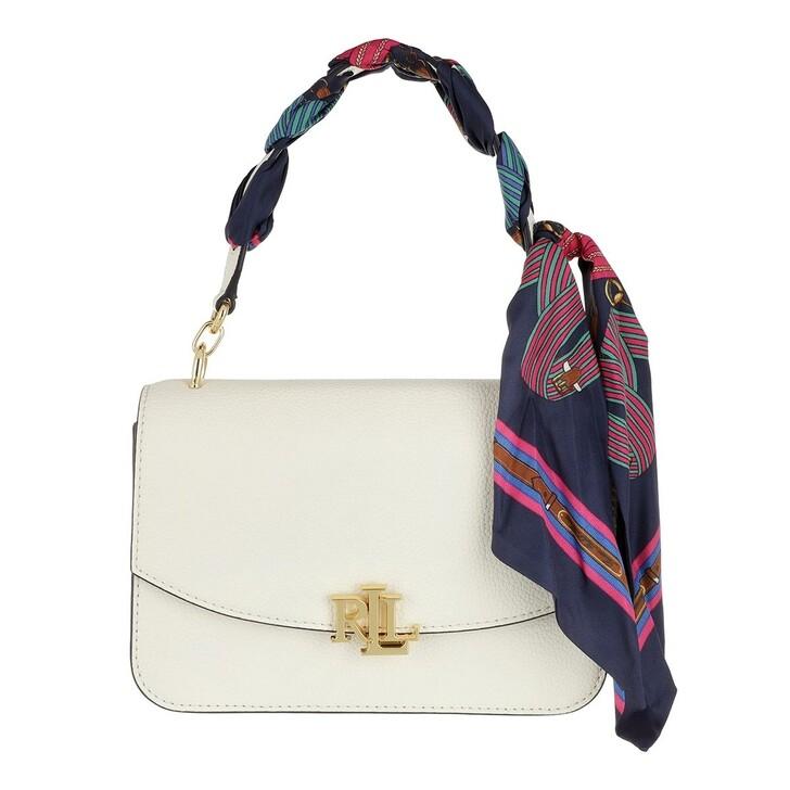 Handtasche, Lauren Ralph Lauren, Madison 22 Crossbody Medium Vanilla/Eqst Blt Lrn Navy