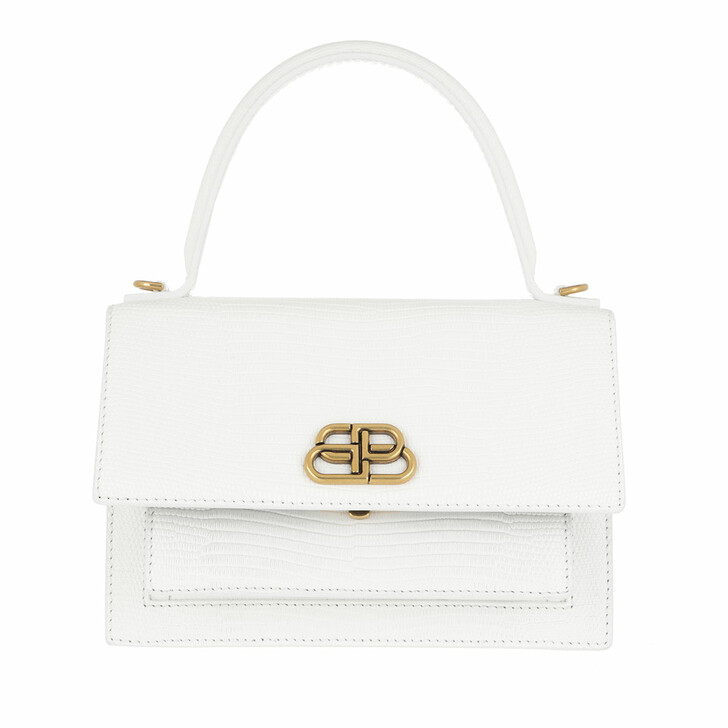 Handtasche, Balenciaga, Sharp XS Crossbody Bag Leather White