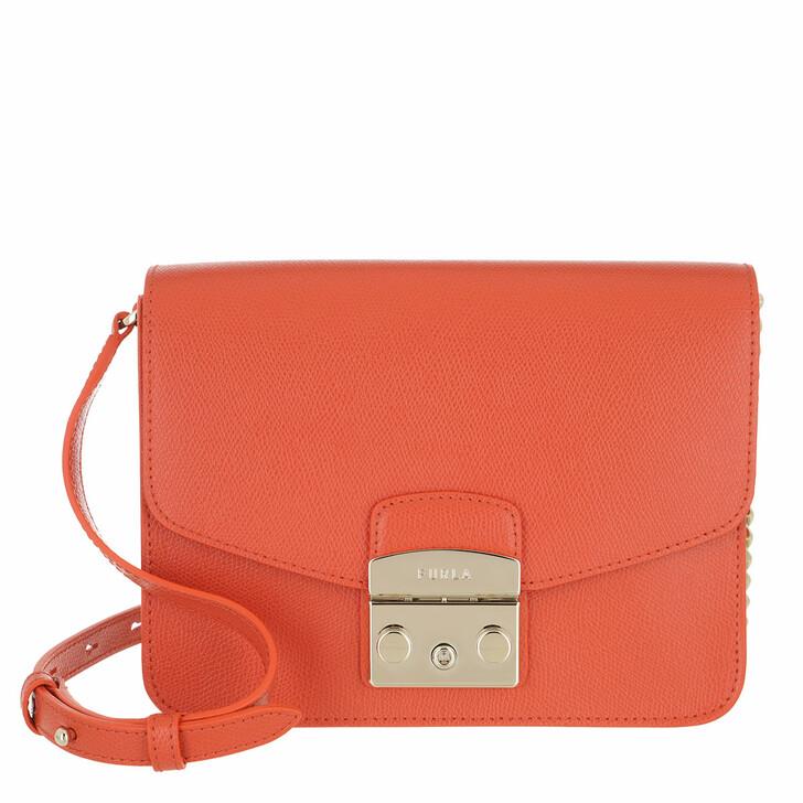bags, Furla, Metropolis S Crossbody - Ares Tangerine
