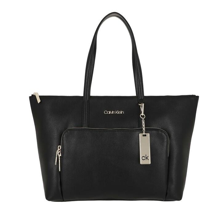Handtasche, Calvin Klein, Shopper Large Saffiano Black