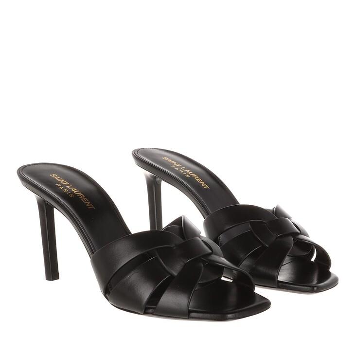 Schuh, Saint Laurent, Tribute Heel Mule Leather Black