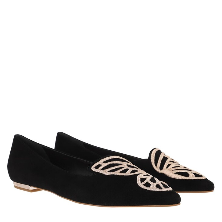 Schuh, Sophia Webster, Butterfly Flat Black Rose Gold