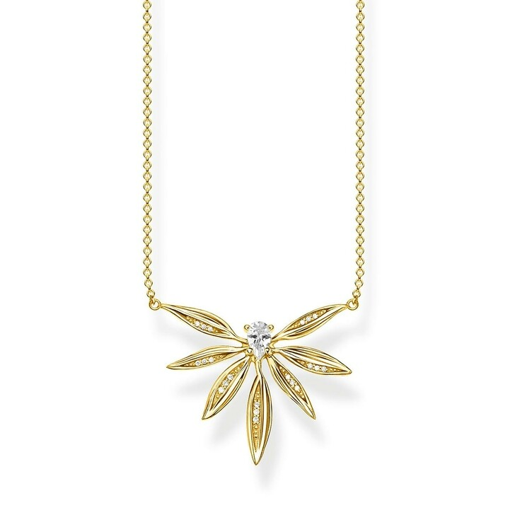 Kette, Thomas Sabo, Necklace Leaves Gold
