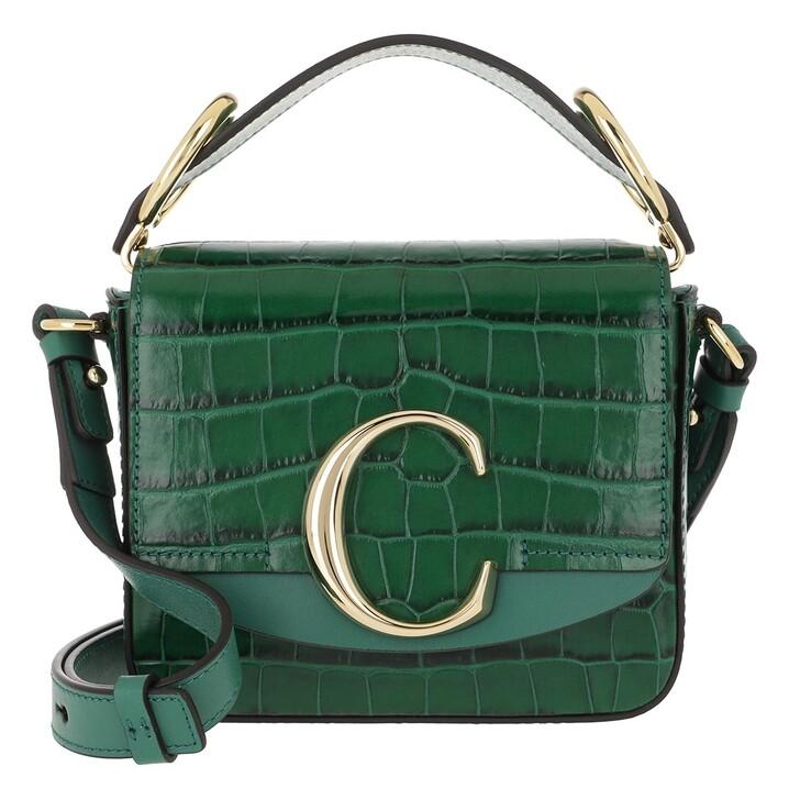Handtasche, Chloé, C Shoulder Bag Leather Woodsy Green