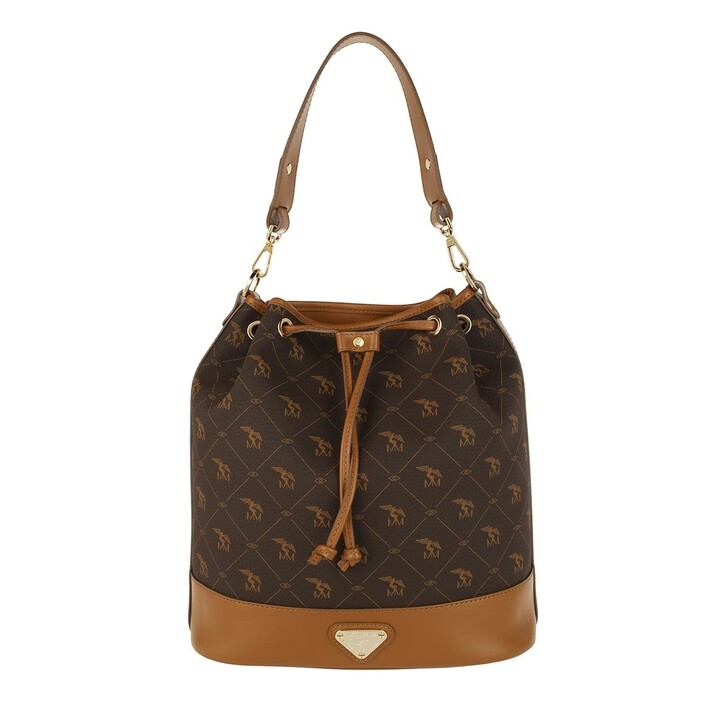 bags, Maison Mollerus, Niesen Bucket Bag Pecarus Soft Brown Gold