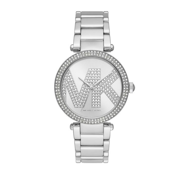 watches, Michael Kors, Women's Parker Three-Hand Stainless Steel Watch Silver