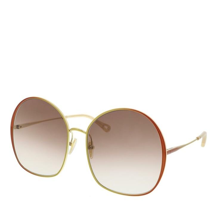 Sonnenbrille, Chloé, Sunglass WOMAN METAL BROWN-BROWN-BROWN