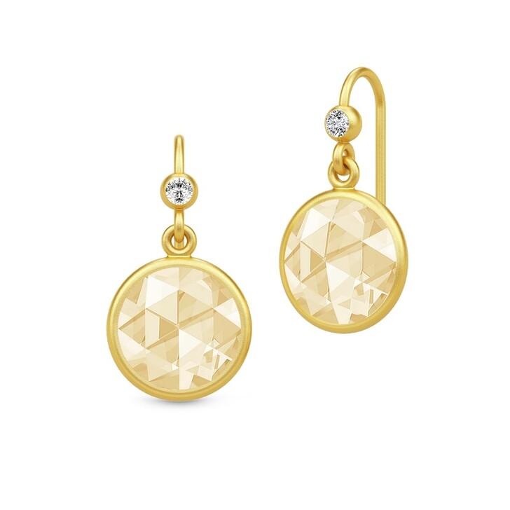 earrings, Julie Sandlau, Cocktail Earrings Gold/Lemon