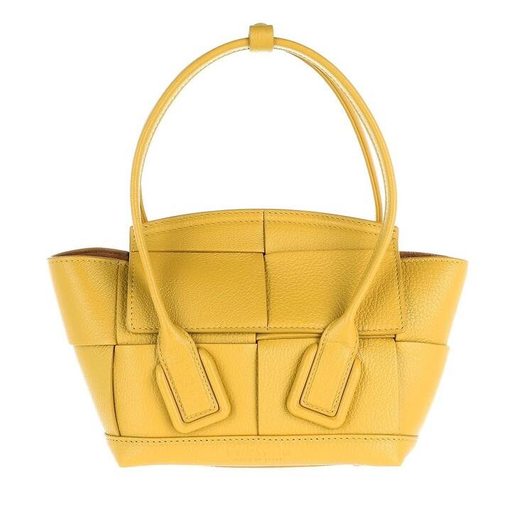 Handtasche, Bottega Veneta, Mini Arco Satchel Bag Leather Curry