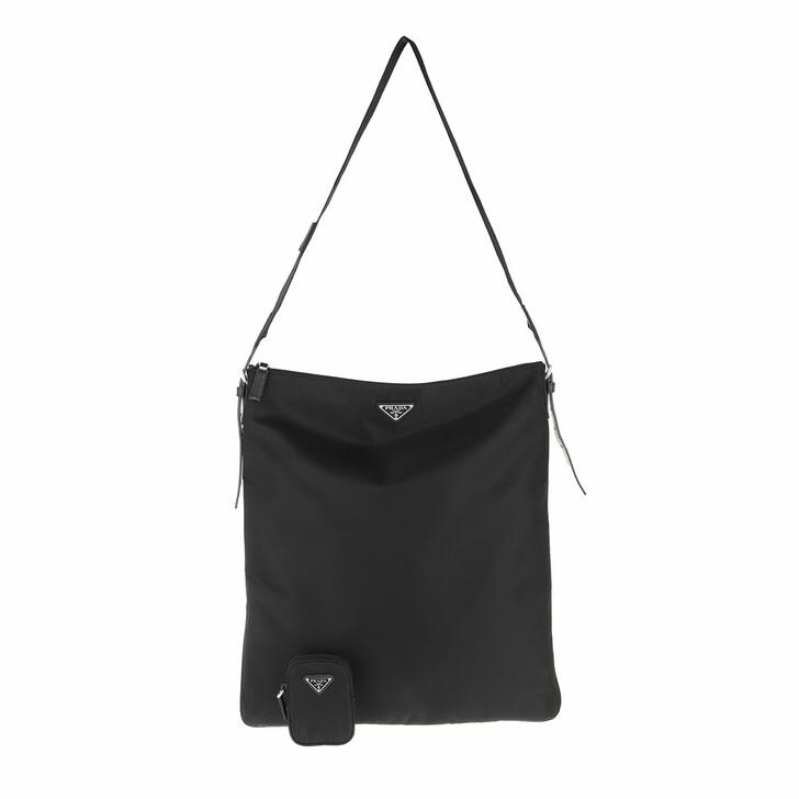 bags, Prada, Messenger Bag Saffiano Leather Black