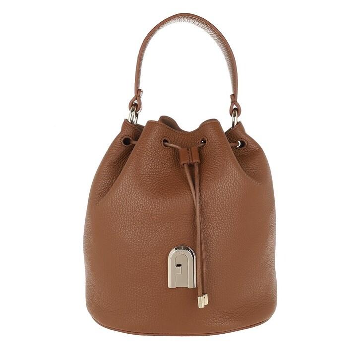 Handtasche, Furla, Sleek Small Drawstring Cognac