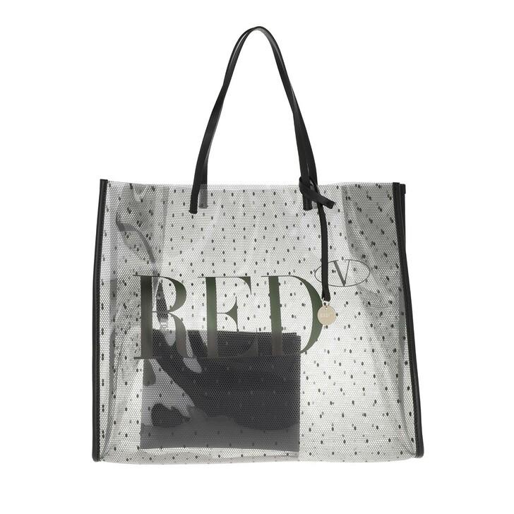 bags, Red Valentino, Tote Trasparente Nero