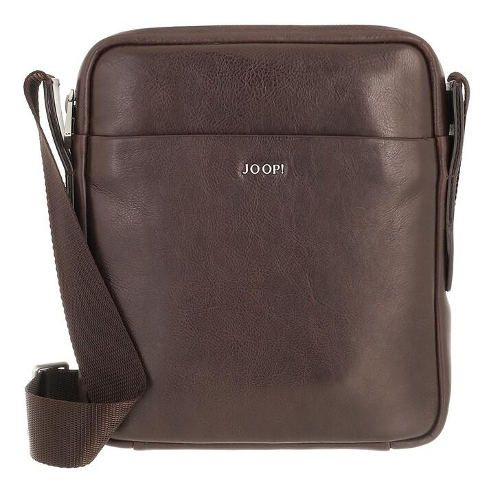 bags, JOOP!, Novara Remus Shoulderbag Xsvz Darkbrown