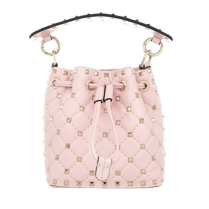 Handtasche, Valentino Garavani, Spike Mini Bucket Bag Pink
