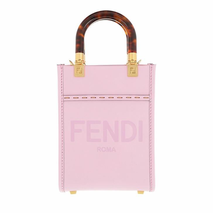 bags, Fendi, Mini Sunshine Logo Shopper Rose