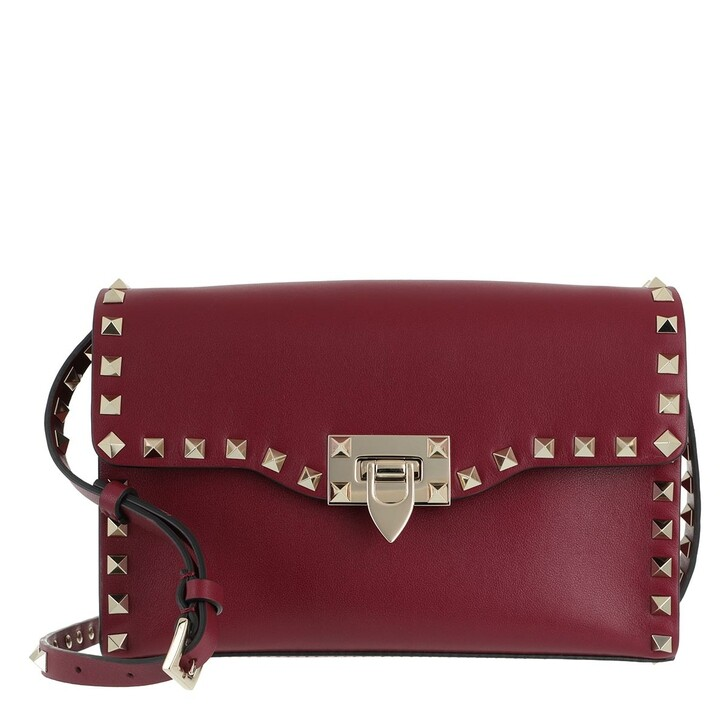 Handtasche, Valentino, Rockstud Crossbody Bag Cerise