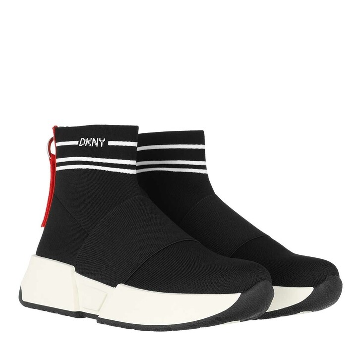 Schuh, DKNY, Marini Slip On Sneaker Black White