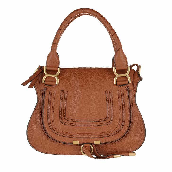 bags, Chloé, Small Marcie Shoulder Bag Tan