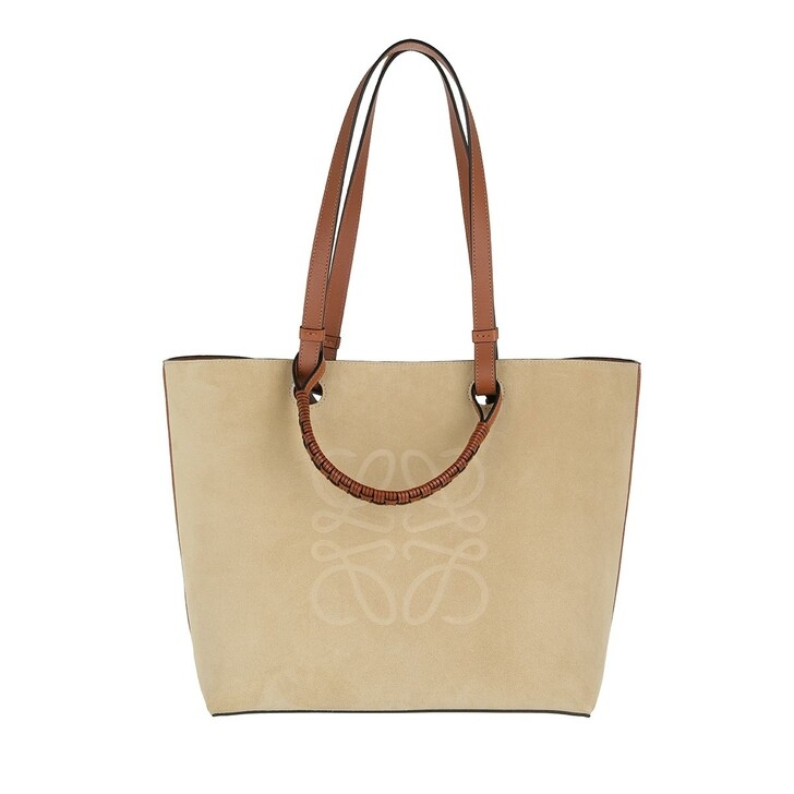 Handtasche, Loewe, Anagram Tote Bag Classic Calfskin And Suede Gold