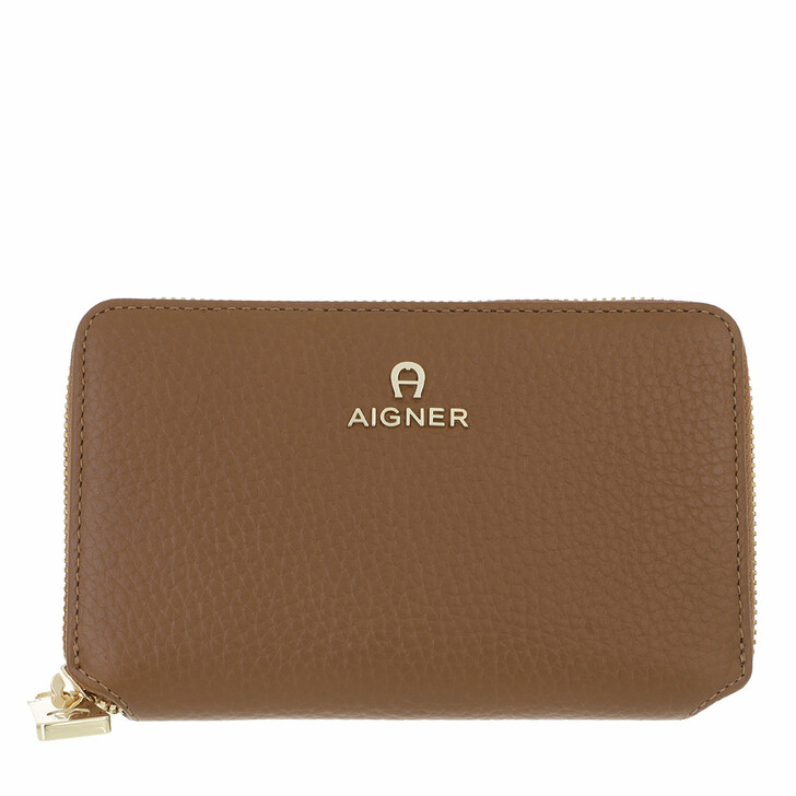 wallets, AIGNER, Ivy Wallet Dark Toffee Brown