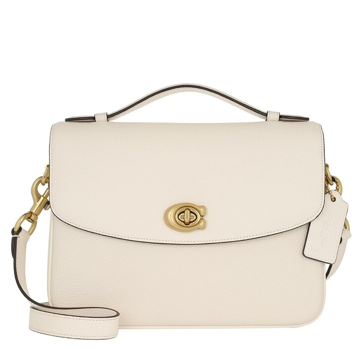 bags, Coach, Polished Pebbled Leather Cassie Crossbody Chalk