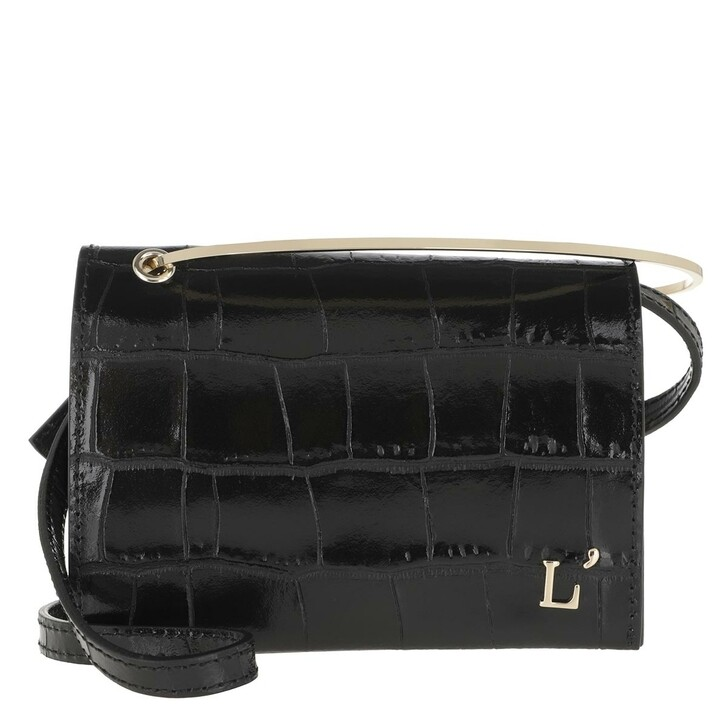 Handtasche, L´Autre Chose, Printed Mini Crossbody Bag Black