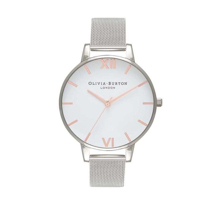Uhr, Olivia Burton, Watch White Dial Mesh Silver
