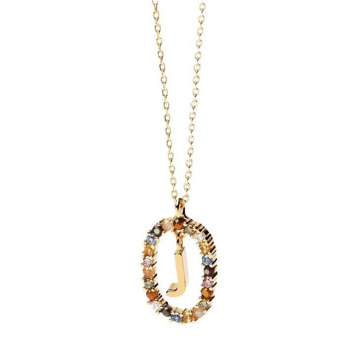 Kette, PDPAOLA, Necklace Letter J Yellow Gold