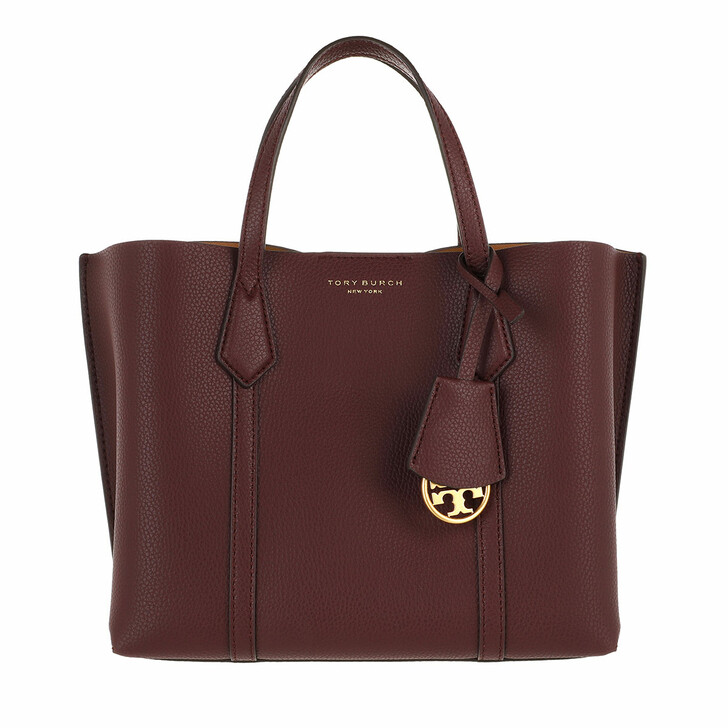 bags, Tory Burch, Perry Small Triple-Compartment Tote Dark Rhubarb