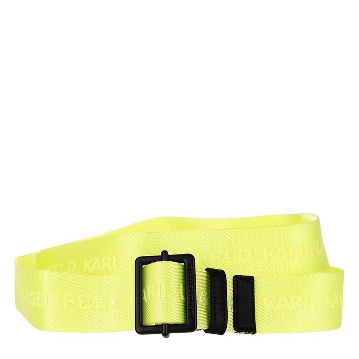 Gürtel, Karl Lagerfeld, Karl Logo Webbing Belt Neon Yellow