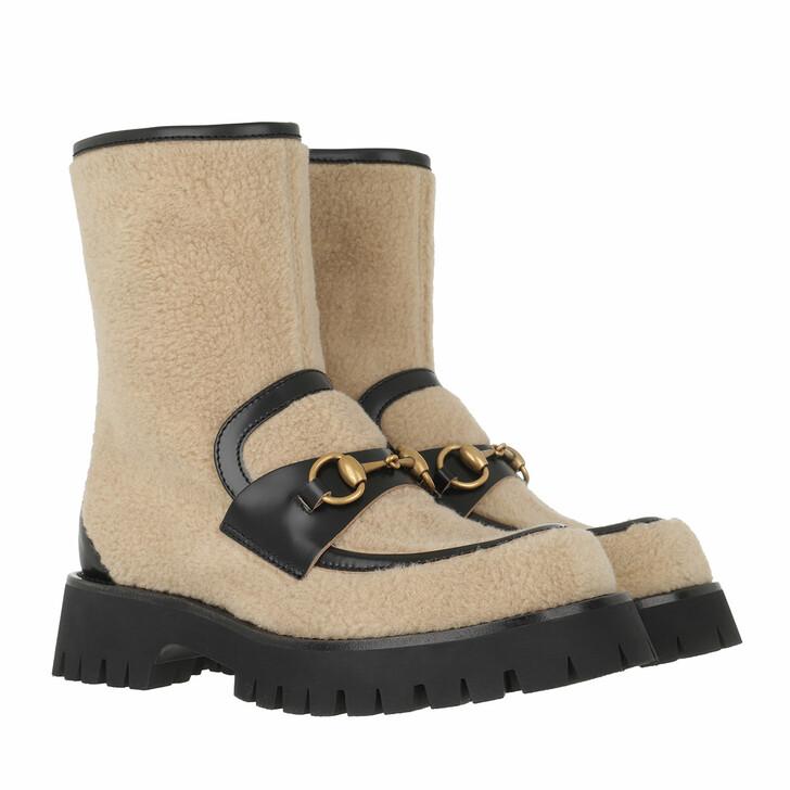 shoes, Gucci, Horsebit Ankle Boots Butterscotch/Black