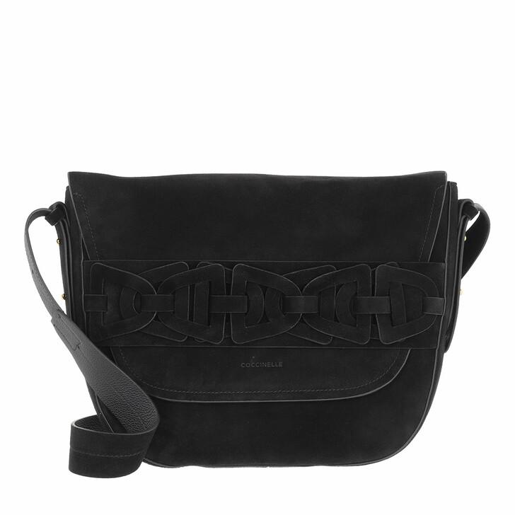 bags, Coccinelle, Gitane Suede Handbag Suede Leather  Noir