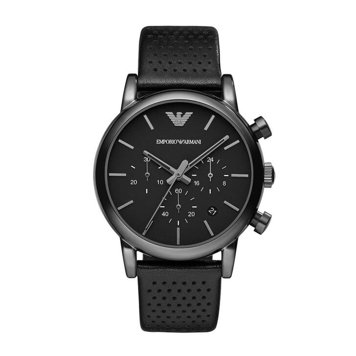 watches, Emporio Armani, Luigi Dress Watch Black