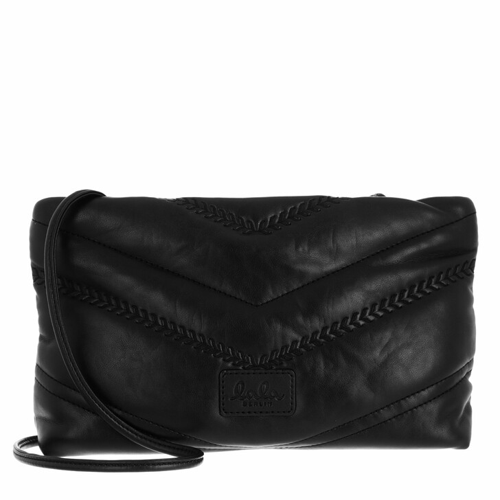 bags, Lala Berlin, Pouch Nola Black Quilted Pu