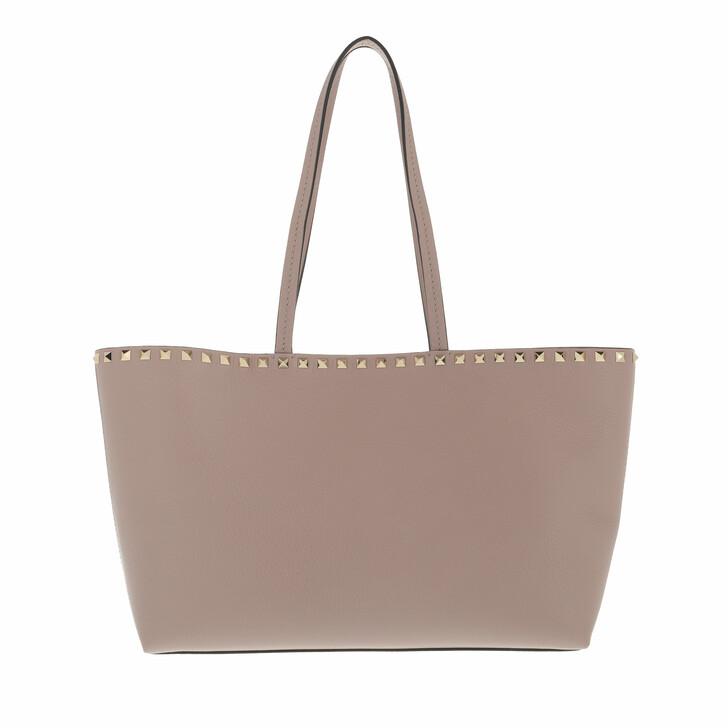 bags, Valentino Garavani, Rockstud Shopping Bag Calfskin Poudre