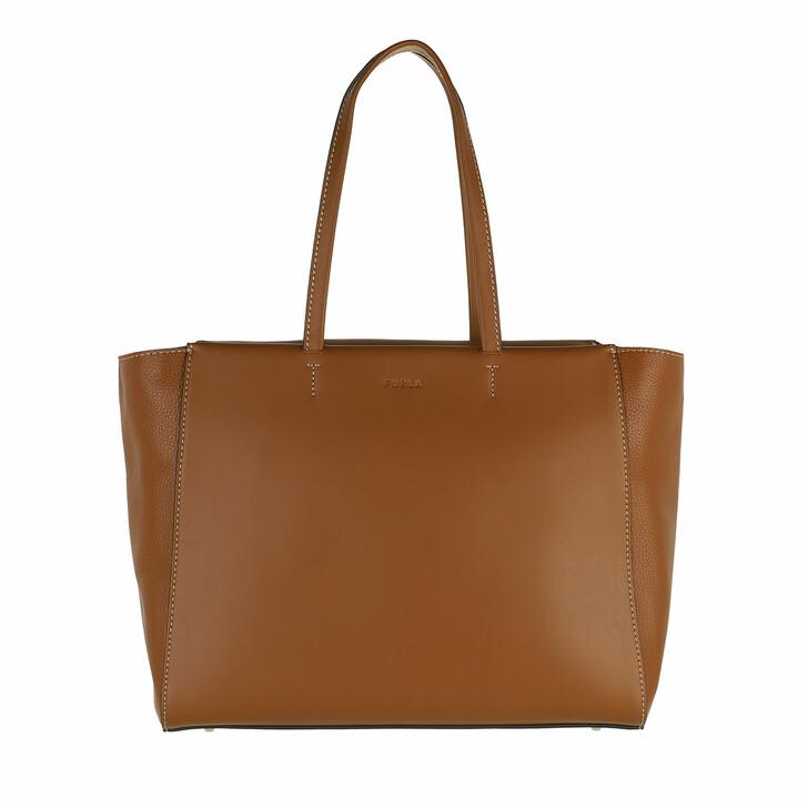 bags, Furla, Furla Regina L Tote Cognac H