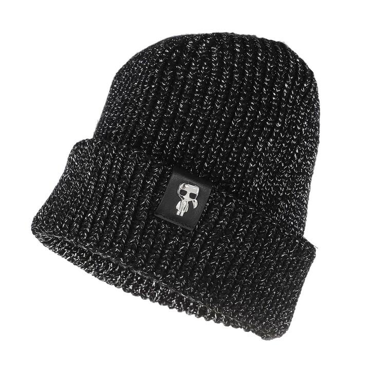 Schal, Karl Lagerfeld, K/Ikonik 3d Pin Beanie Black