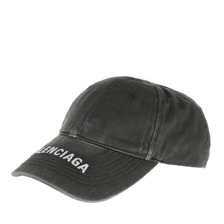 Mütze, Balenciaga, Washed Denim Cap Black/White