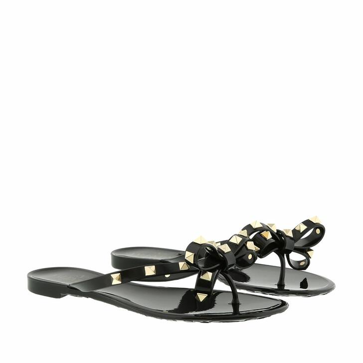 Schuh, Valentino, Rockstud Flip Flops Black