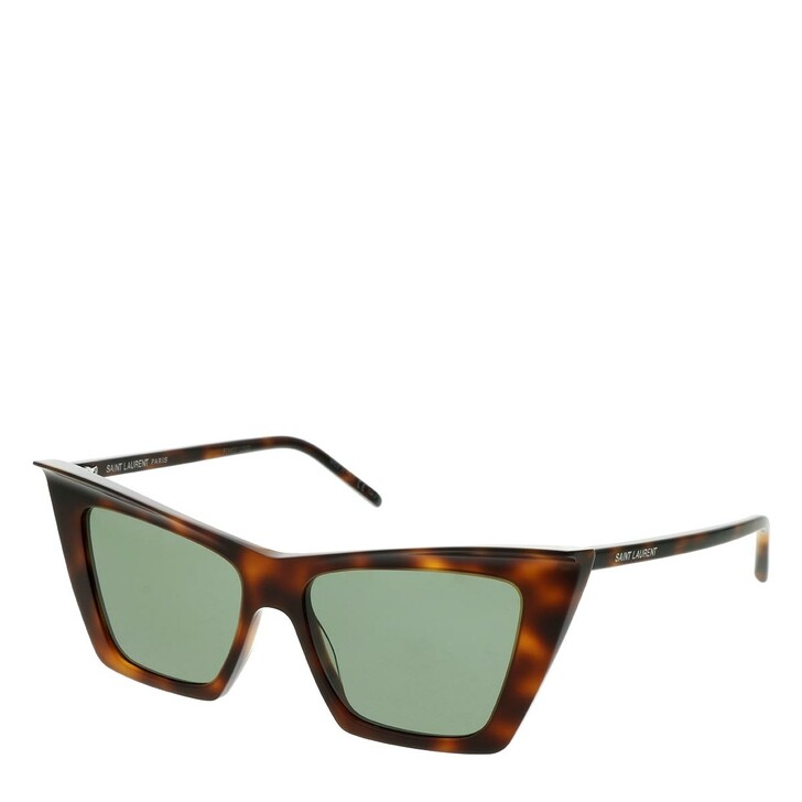 sunglasses, Saint Laurent, SL 372-002 54 Sunglasses Havana-Havana-Green