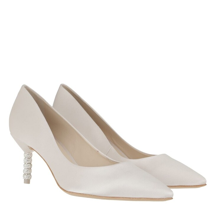 Schuh, Sophia Webster, Coco Crystal Mid Pump Soft Ivory
